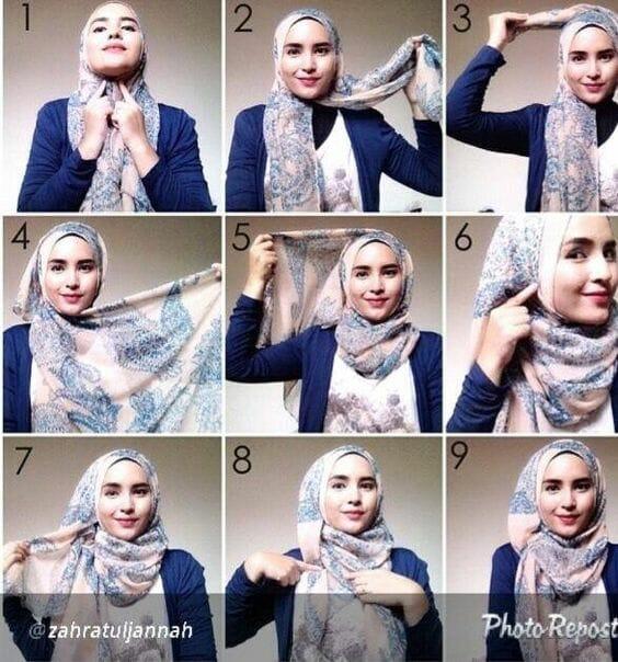 Tutorial Hijab Pashmina
