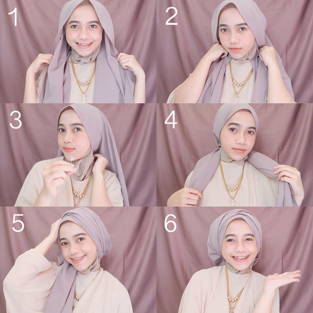 Tutorial Hijab Simple Remaja