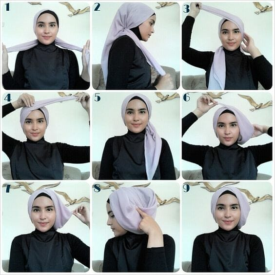 Tutorial Hijab Pesta