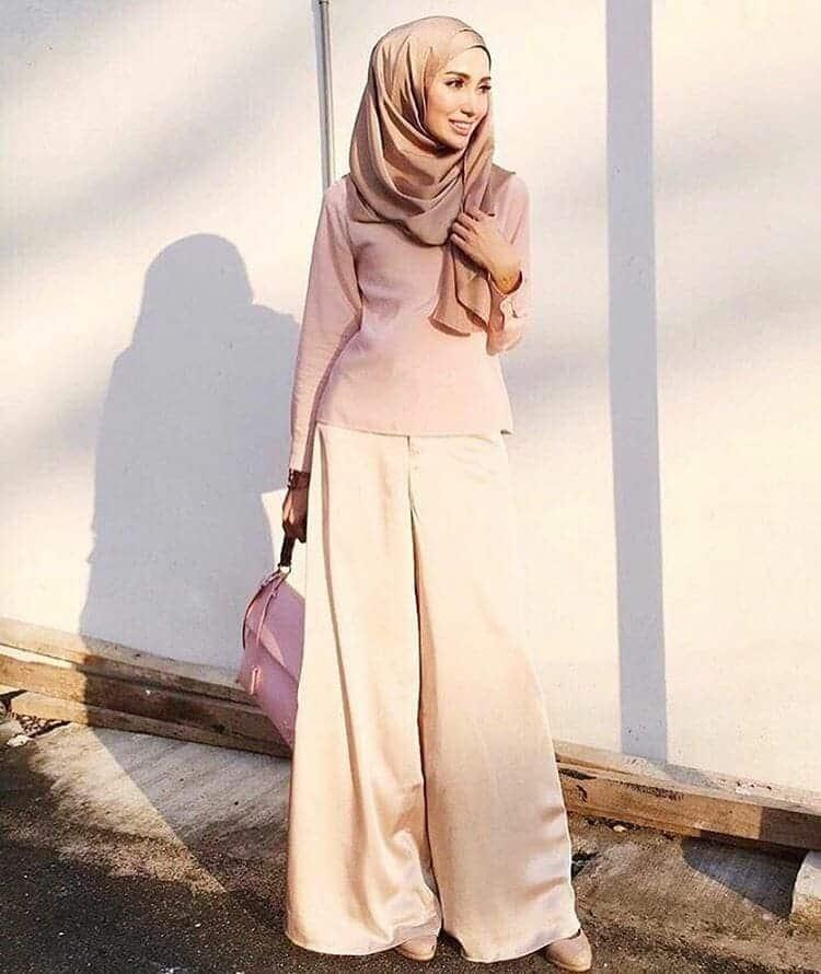 Model hijab pasangan celana kain