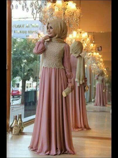 Gaun Pesta Mewah Paduan Warna Emas dan Merah Muda