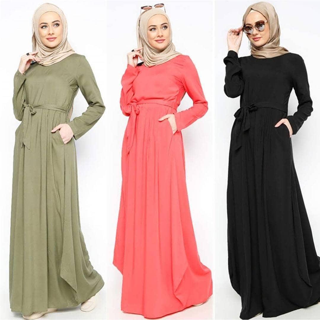 Gaun Pesta Muslim dengan Variasi Pilihan Warna