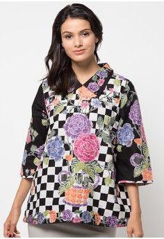 Model Baju Batik Atasan Casual