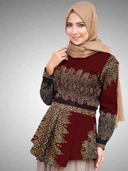 Model Baju Batik 2019 Wanita Atasan