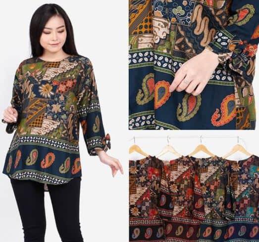 25 Model Baju Batik Kantor Wanita 2020 Modern Casual Elegan