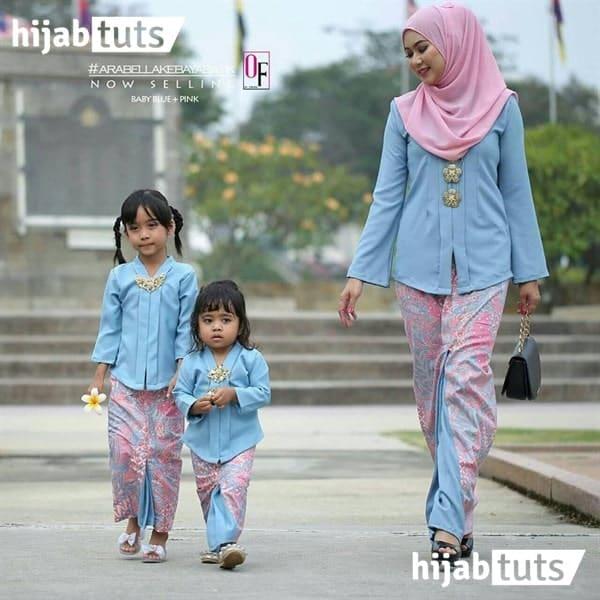 Model baju kebaya modern ibu dan anak