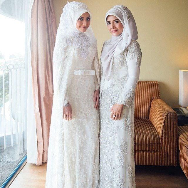 Desain kebaya pengantin muslimah