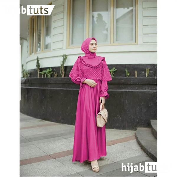 Dress Muslim Pesta Wanita Remaja Pink