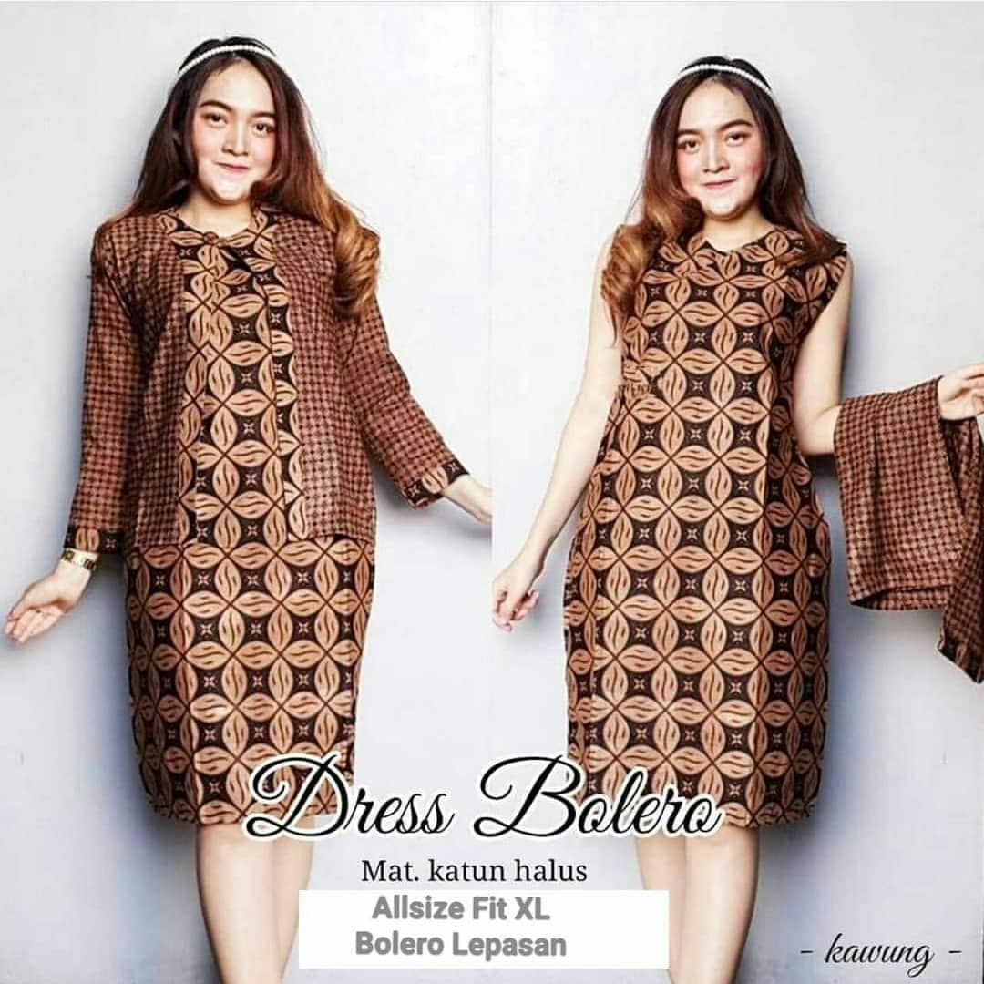 Gamis Batik Muslim Wanita Gemuk