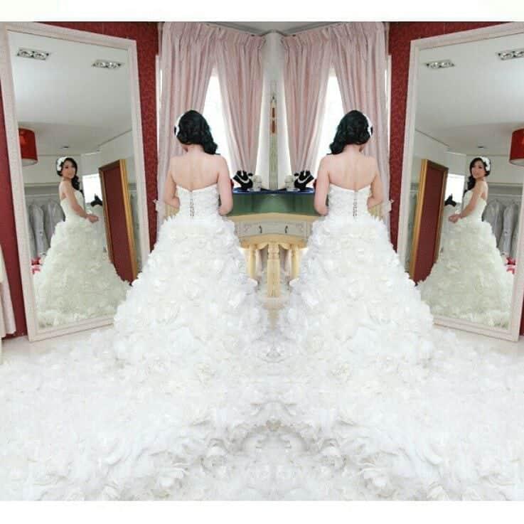 Gaun pengantin internasional