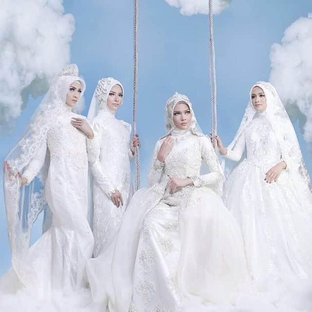 Kebaya pengantin hijab