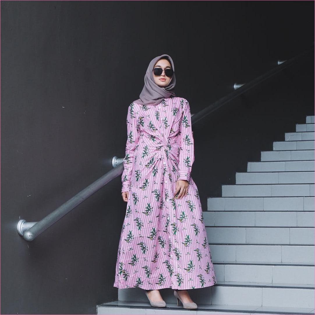 Model Gamis Batik Muslim Pesta 2019