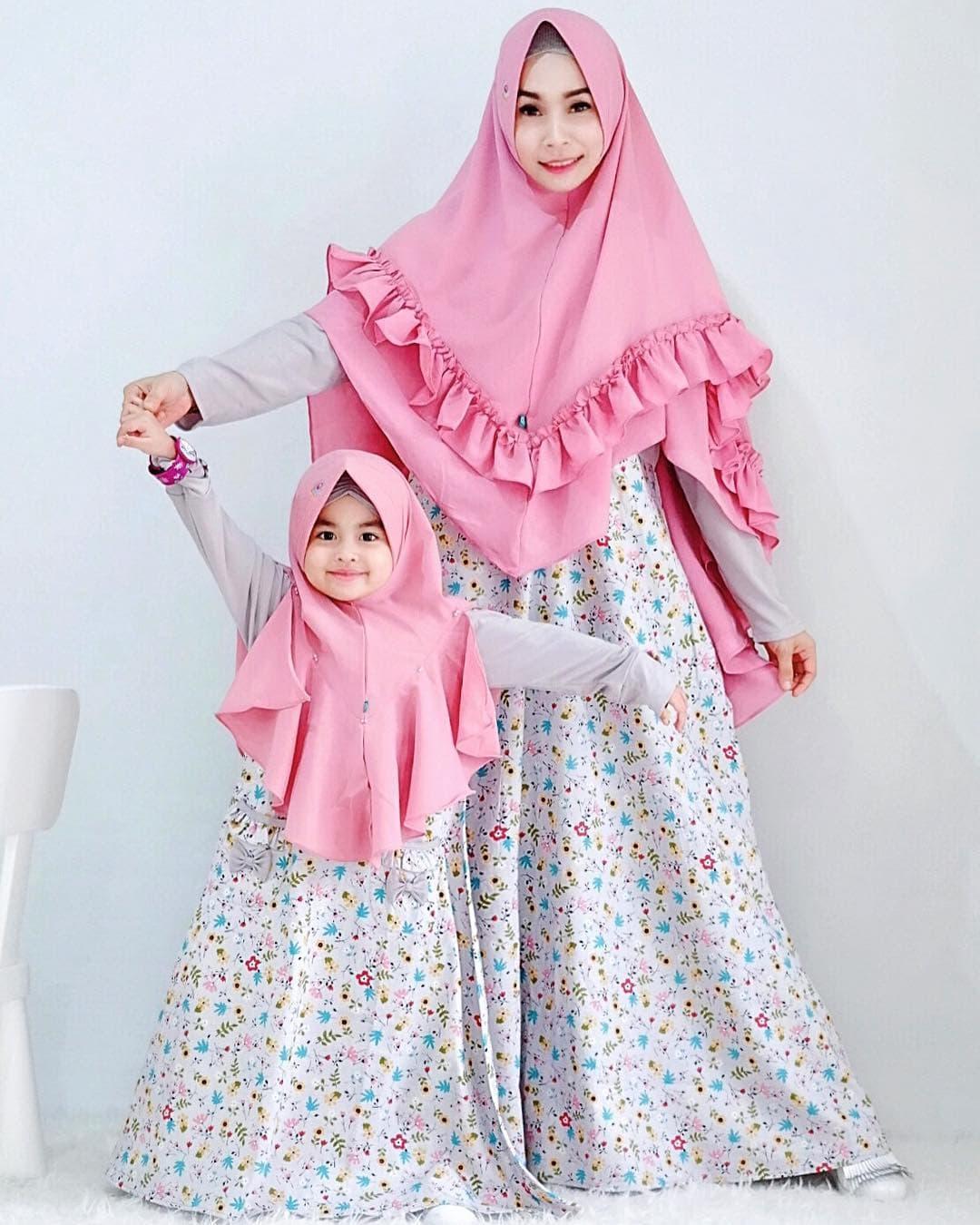 Gambar Model Gamis Couple Ibu dan Anak