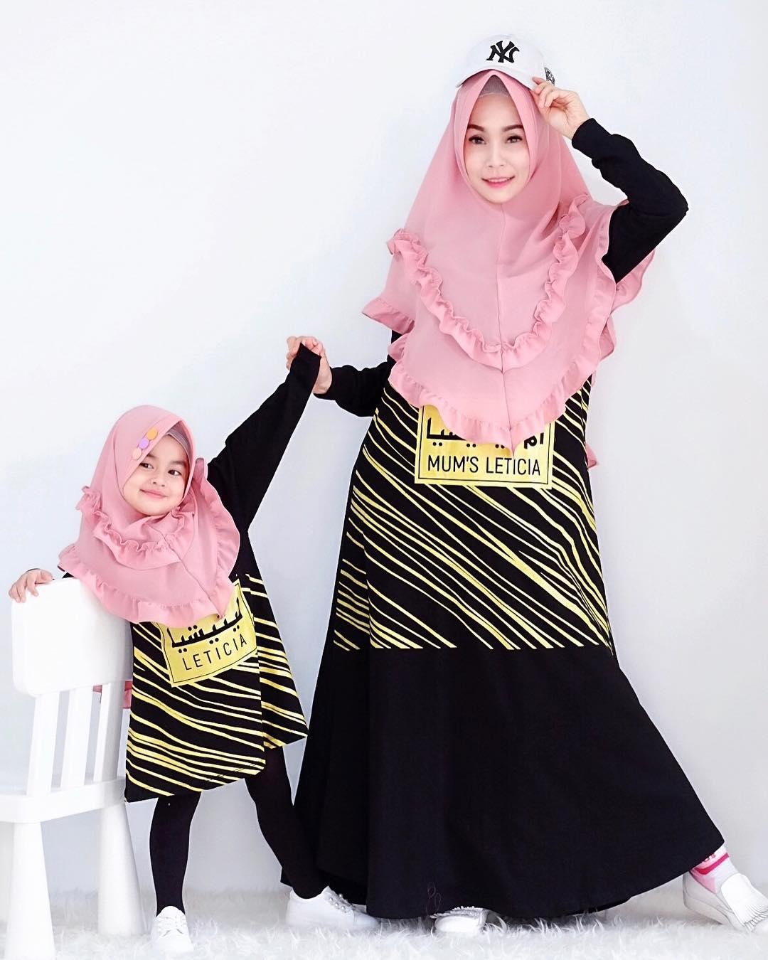 Model Gamis Couple Ibu dan Anak Lebaran