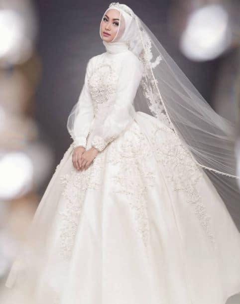 Model Gaun Pengantin Syari
