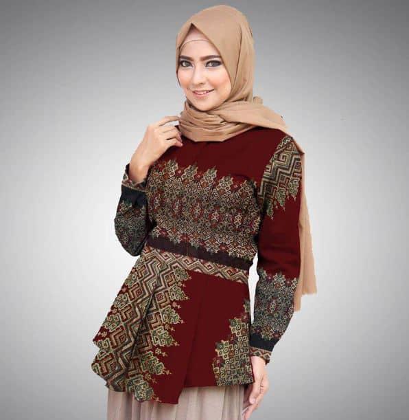 Model Baju Batik Atasan Modern yang Trendy