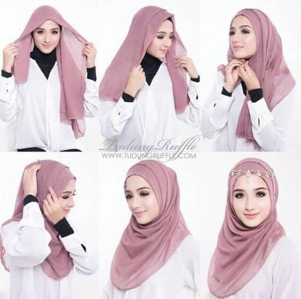 Tutorial Hijab Paris Mewah Untuk ke Pesta