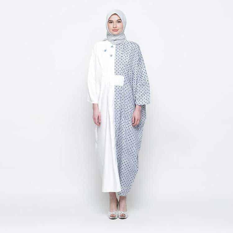Baju Gamis Motif Batik Polos