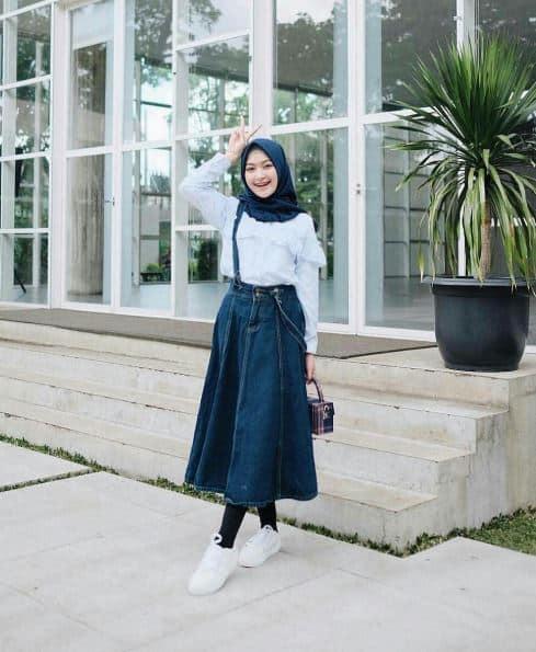 Fashion Hijab Untuk Orang Pendek Agar Terlihat Tinggi