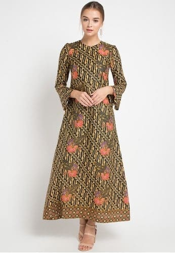 Gamis Batik Kombinasi Parang Ageng