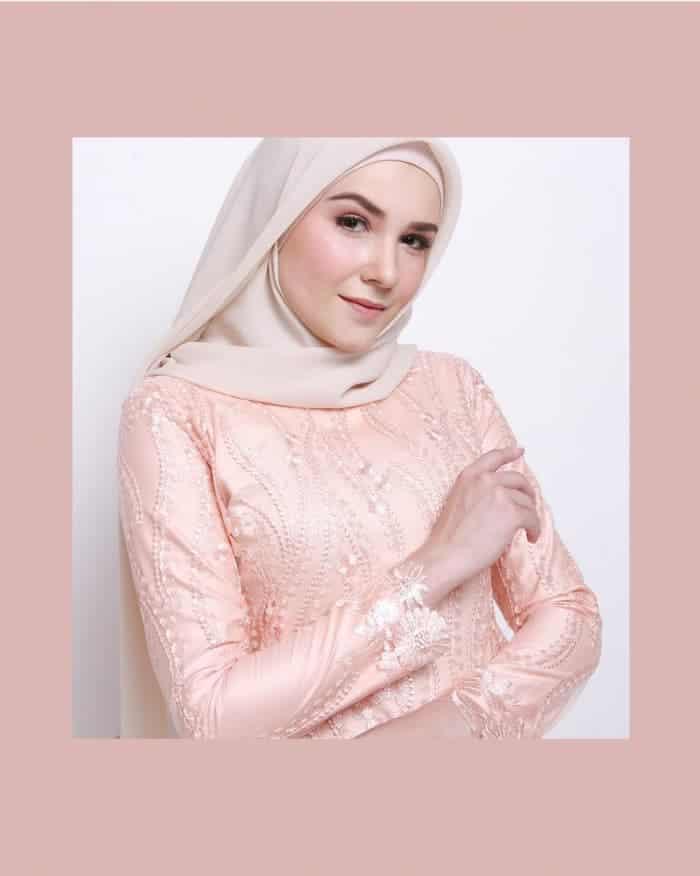 Gamis Batik Kombinasi Tulle