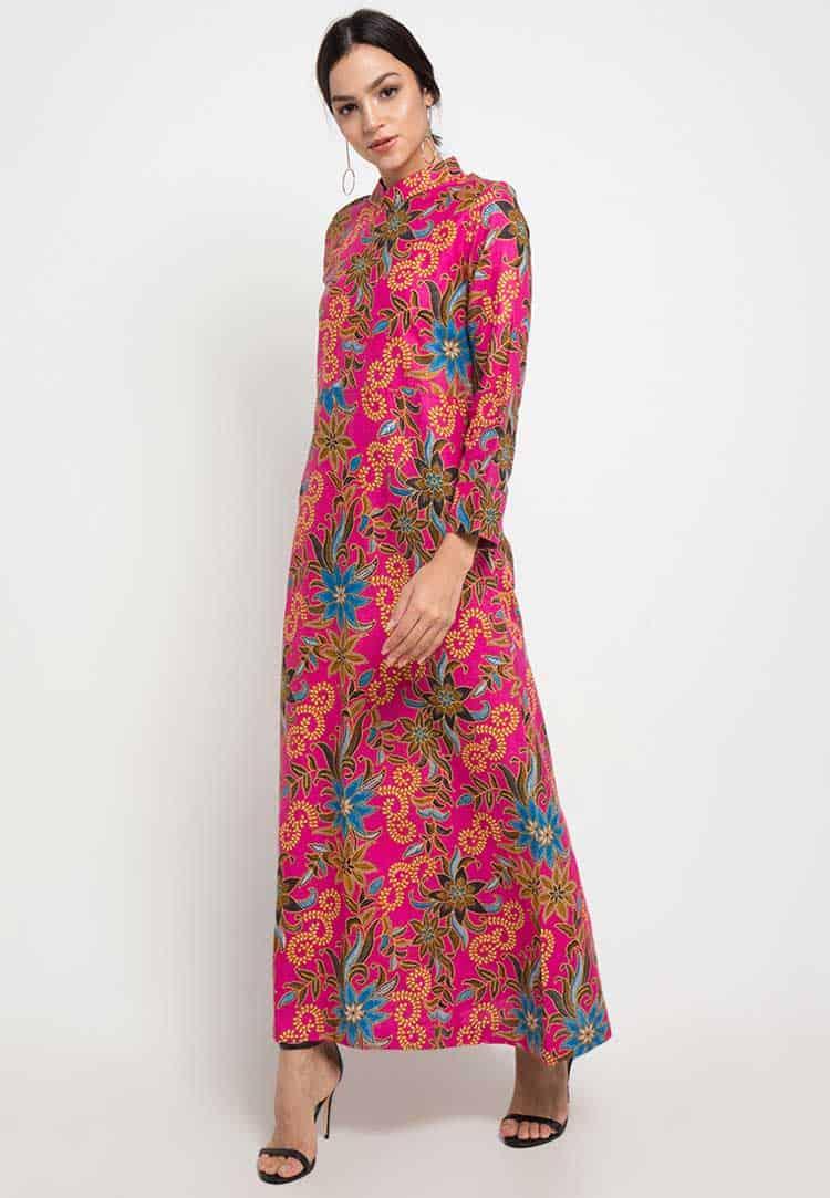 Gamis Batik Model Bunga
