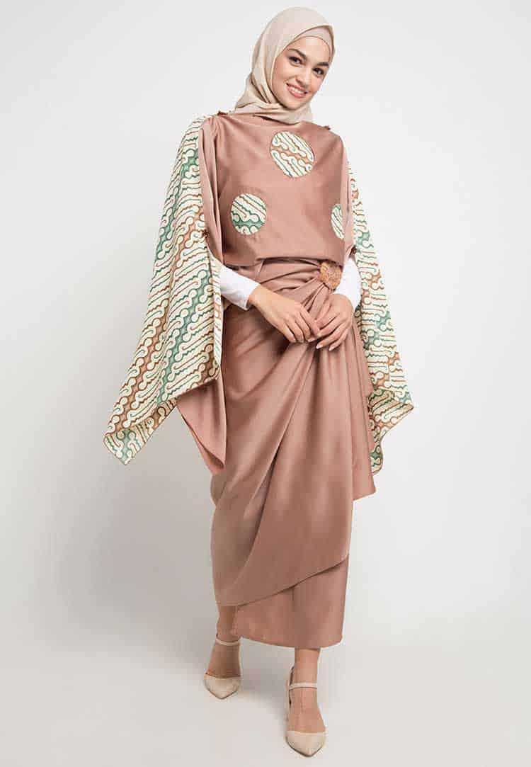 Gamis Batik Model Parang Pink