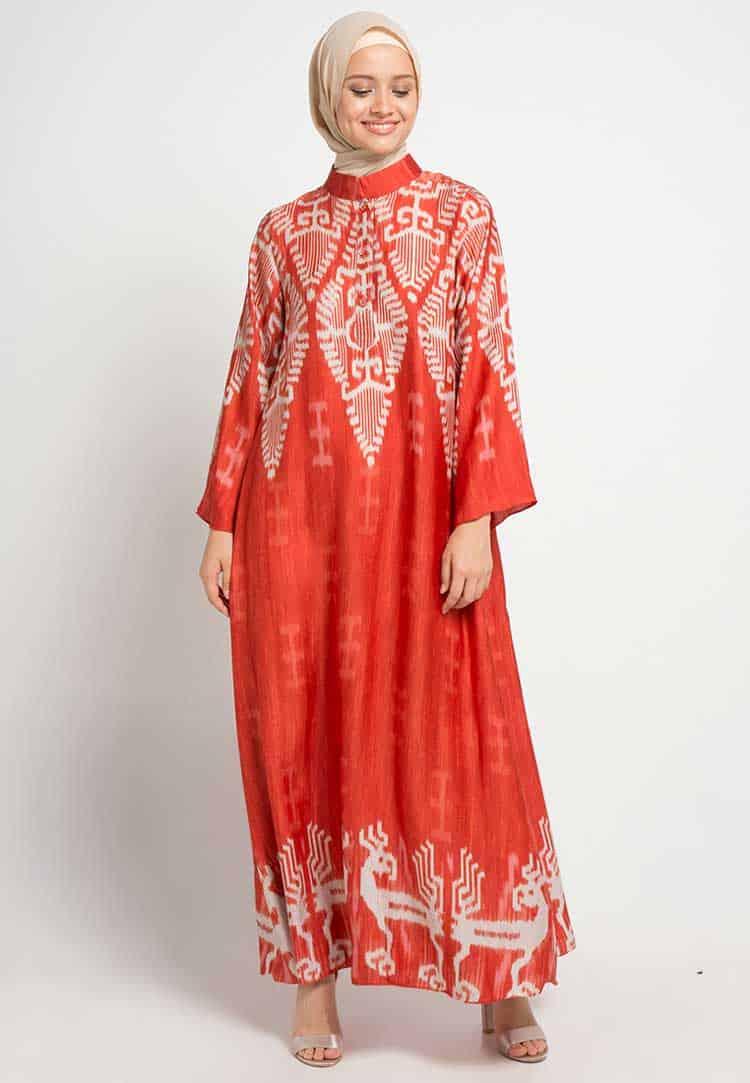 Gamis Batik Model Shanghai
