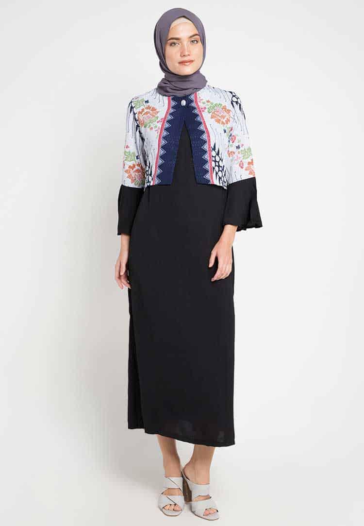 Gamis Batik Motif Parang Keris