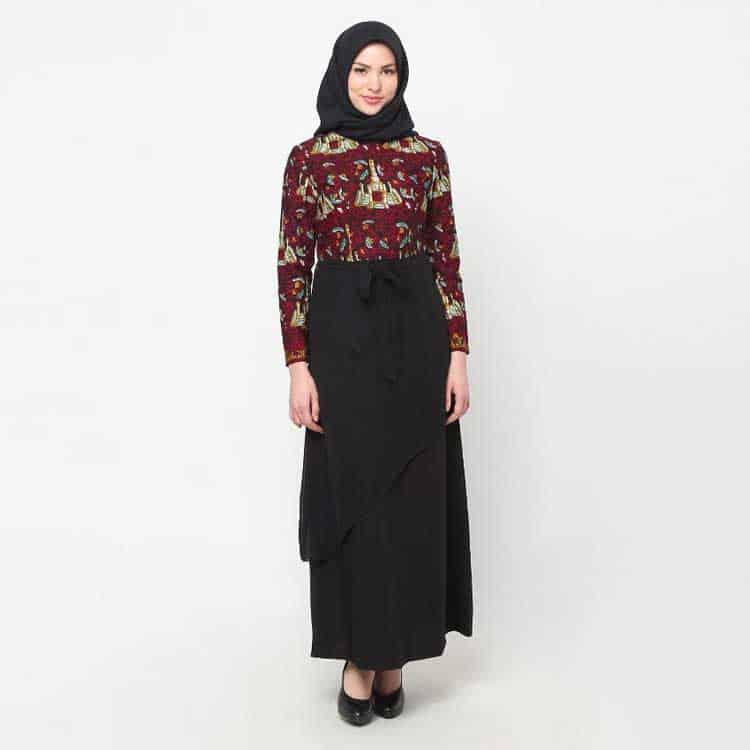 Gamis Jambi Kombinasi Batik
