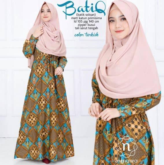 Model Baju Batik Gamis untuk Wanita