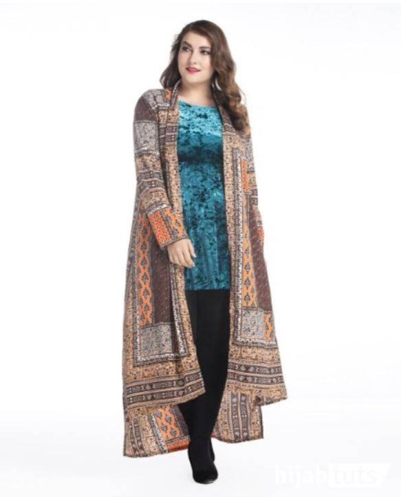 Model Baju Batik Kombinasi Untuk Wanita Gemuk