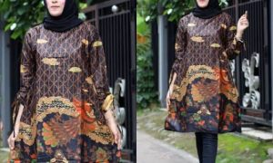Model Baju Batik Tunik Wanita
