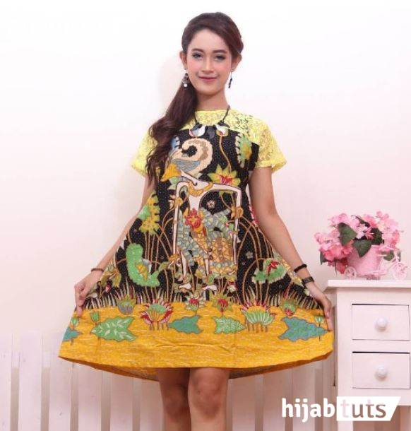 Model Baju Dress Batik Wanita Gemuk