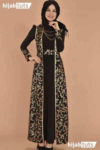 42 Model Gamis Batik Muslim Remaja Modern Kombinasi Brokat 2021