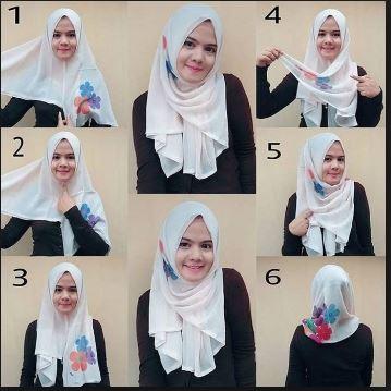 Tutorial Hijab Paris Segi Empat untuk Jalan Jalan