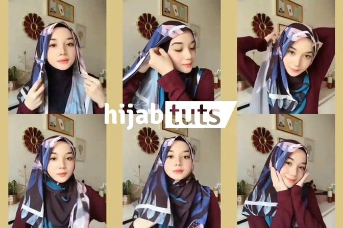 Tutorial Hijab Pashmina Diamond Gaya Kekinian