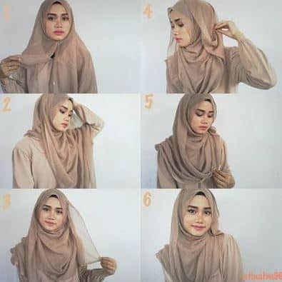 Tutorial Hijab Segitiga Simple Sehari hari