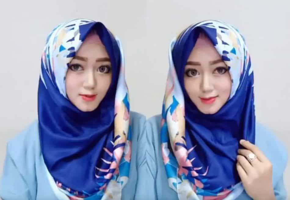 Tutorial Hijab segitiga super simple