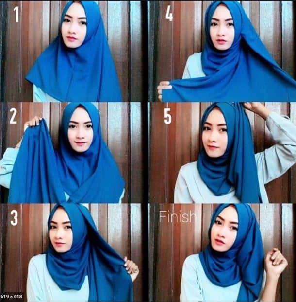 Tutorial Hijab Pashmina Satin Wisuda