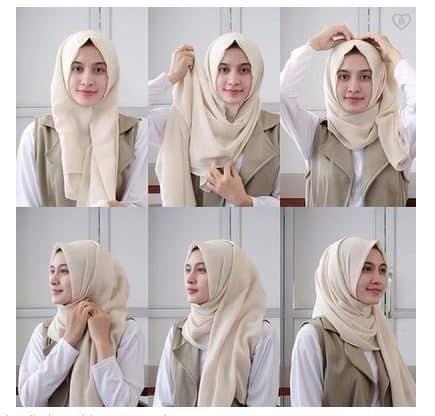 Tutorial Hijab Pashmina Untuk Ke Kantor Simpel