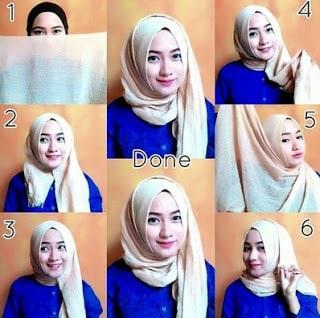 Tutorial Hijab Wisuda Segi Empat